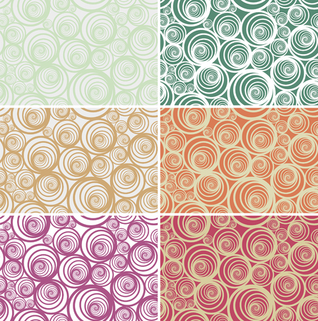 Seamless spiral vector pattern in light various colors