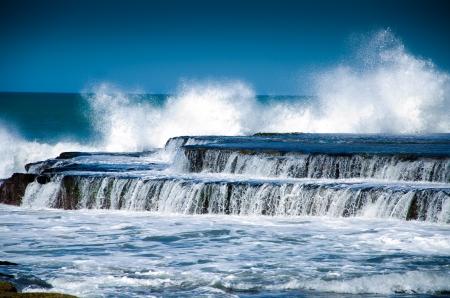 marron: Paisaje de la costa atlántica Argentina  Stock Photo