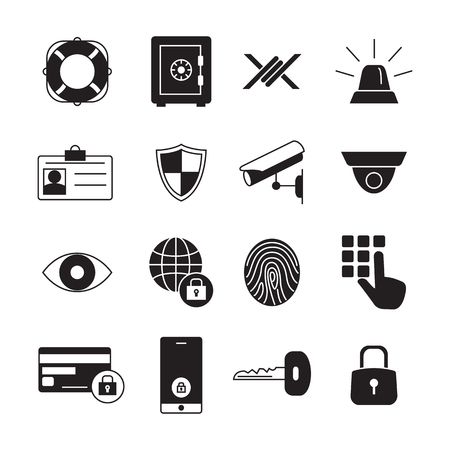 Protection and security vector  icons.
