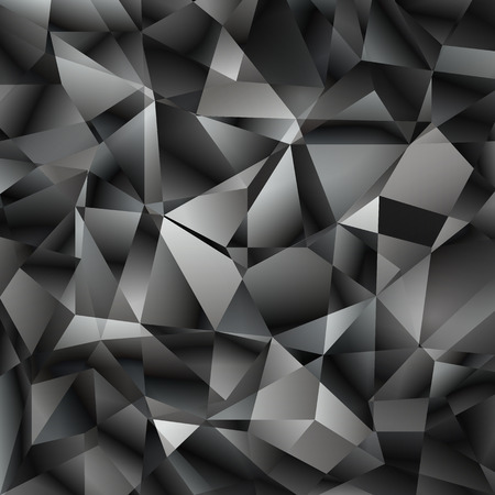 Vector geometric abstract background with triangles and lines.  Poligon abstract background. Ilustração