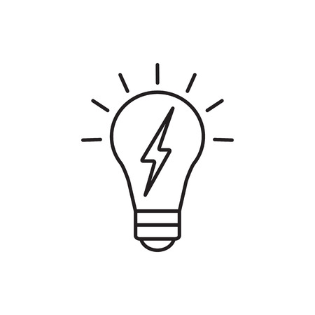 energy use: Vector lightbulb icon. Universal lightbulb icon to use in web and mobile UI, energy basic UI element Illustration
