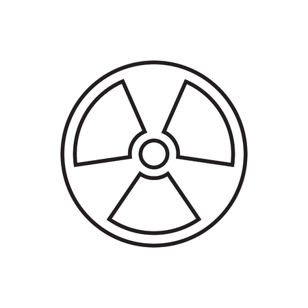 cray: The radiation icon. Radiation symbol. Universal Radiation icon to use in web and mobile UI, ecology basic UI element. Illustration