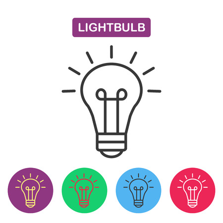 buld: Lightbulb. Isolated  line icon pictogram. Buld imaige. Simple thin line icon for websites, web design, mobile app, infographics.