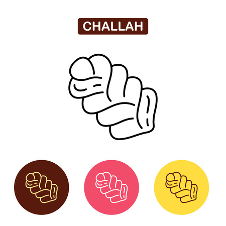 plait: Challah isolated line icon.