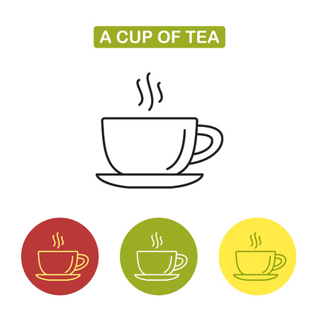 Cup icon.  Tea time image. Outline style image. Trendy vector Illustration isolated for graphic and web design.