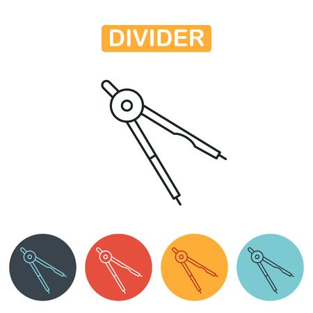Divider icon. Vector illustration.