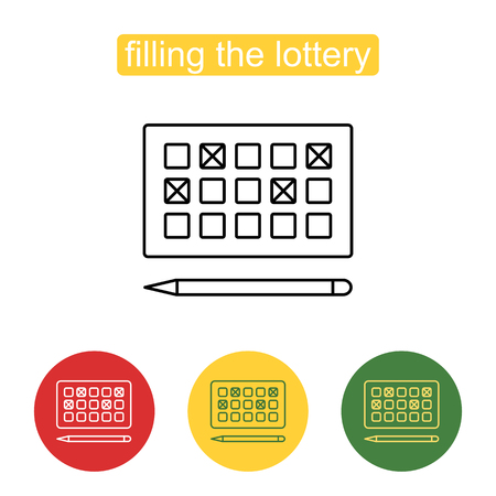 opportunity sign: Lottery games card for numbers selecting symbol. Illustration