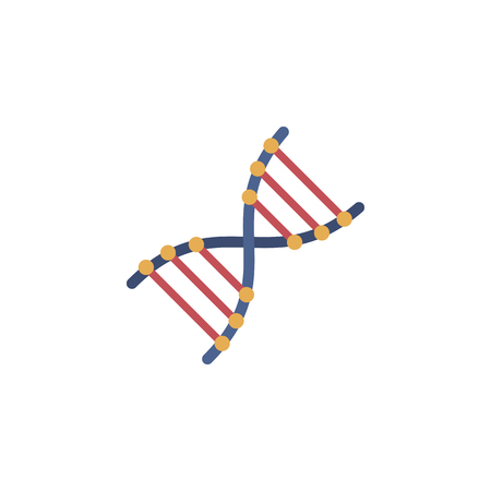 Vector DNA flat icon.