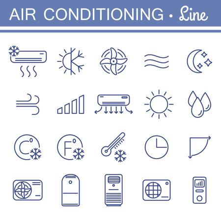 Eenvoudige reeks airconditioning vectorpictogrammen voor uw ontwerp. Vector Illustratie