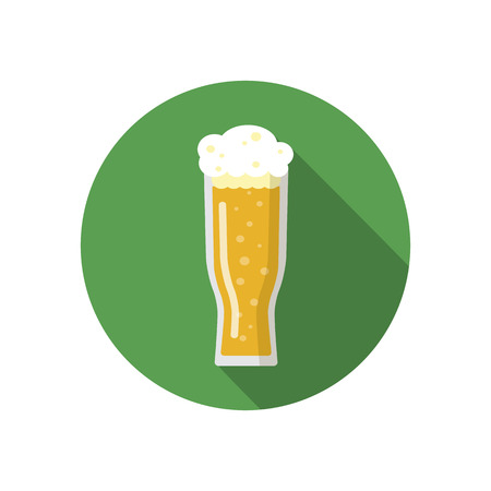 unprinted: Glass of beer on a colorful background. Illustration