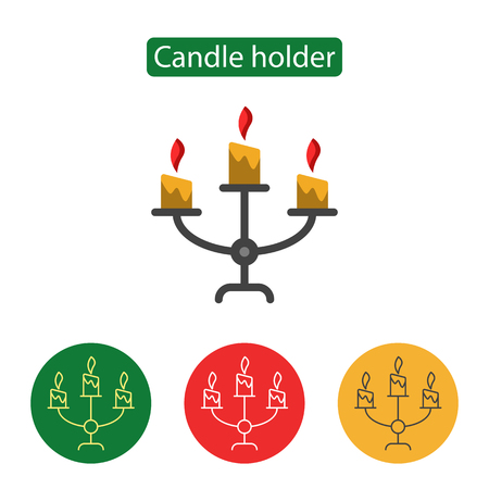 Candle holder line icon.