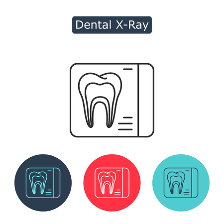 Dental x-ray line icon. Illustration