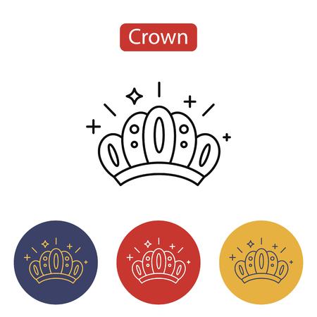 Crown icon isolated on white illustration. Stock Illustratie
