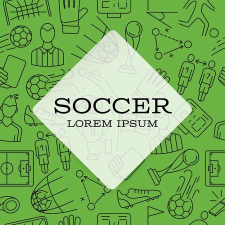 Modern design background. Soccer sign icon.