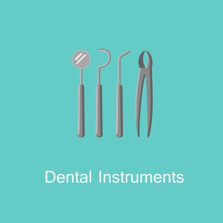 Dental instruments icon.