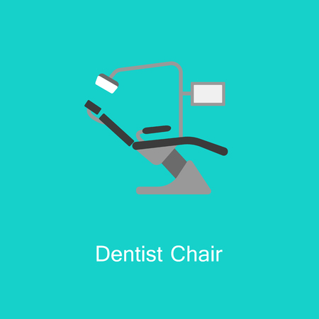 Dental chair icon thin line for web and mobile.