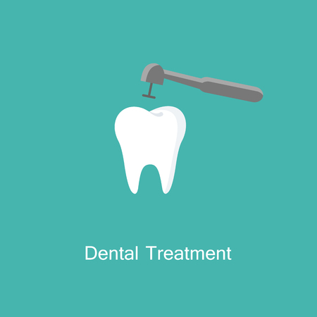 Treatment of tooth icon. Illustration