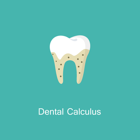 Tartar or calculus teeth illustration vector icon.  イラスト・ベクター素材