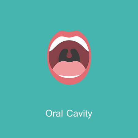 Line icon mouth with teeth. Banco de Imagens - 97194030