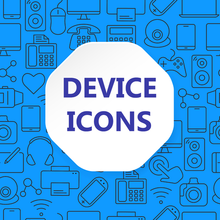 Device outline icons set