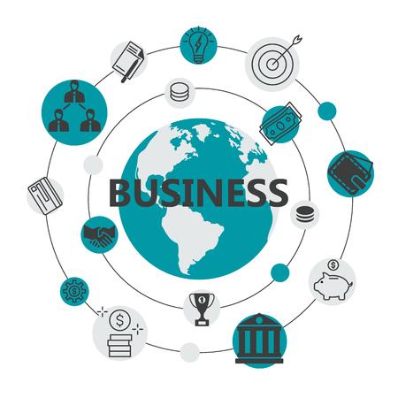 International business flat design