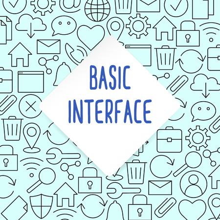 Web and computer basic icons