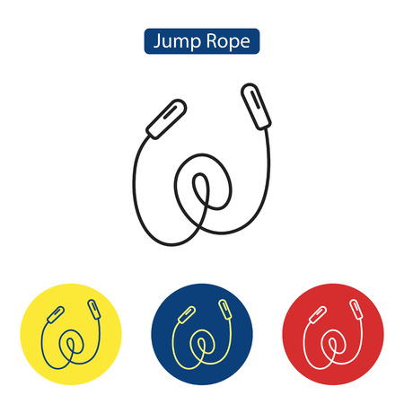 Jump rope fit icons
