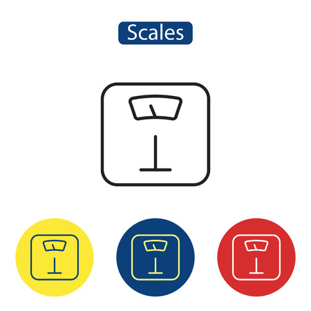 Scales flat icons. Vectores