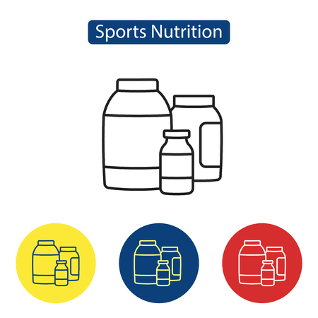 Sport nutrition fit icons.