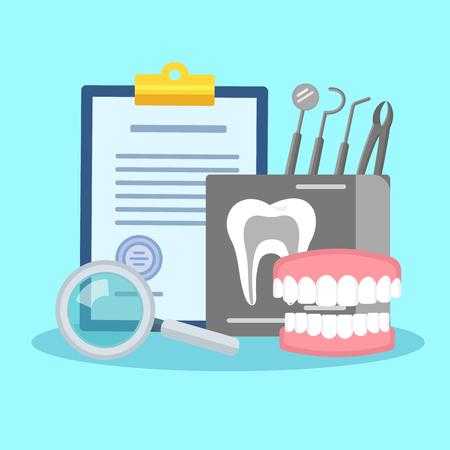 Dental treatment poster.
