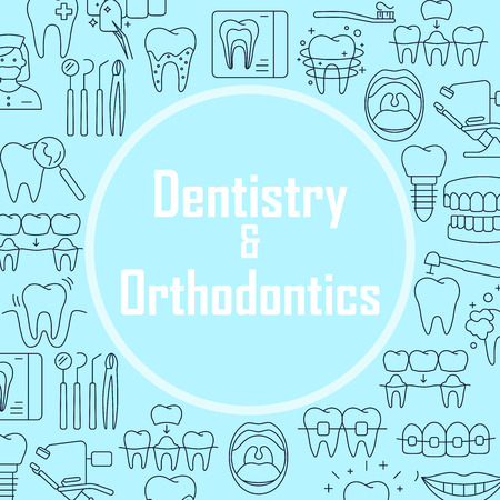 Dentistry and orthodontics banner template