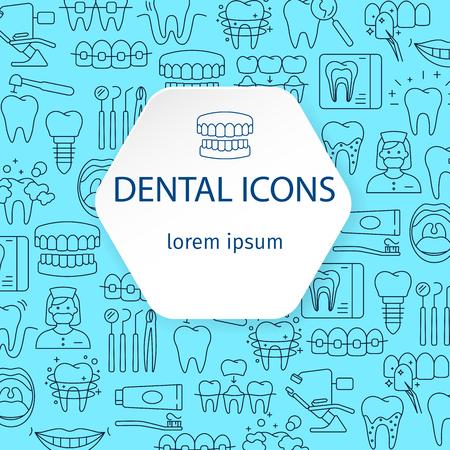 Dentistry and orthodontics pattern Vector illustration. Illustration