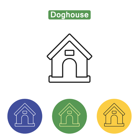 Doghouse line icon
