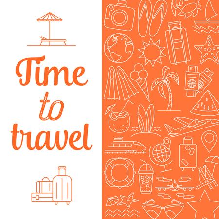 Time to travel background. Illustration