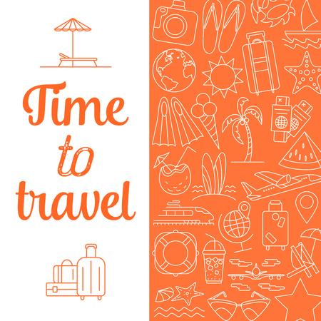 Time to travel background. Illustration