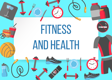 Fitness and health horizontal frame