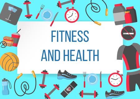 Fitness and health horizontal frame
