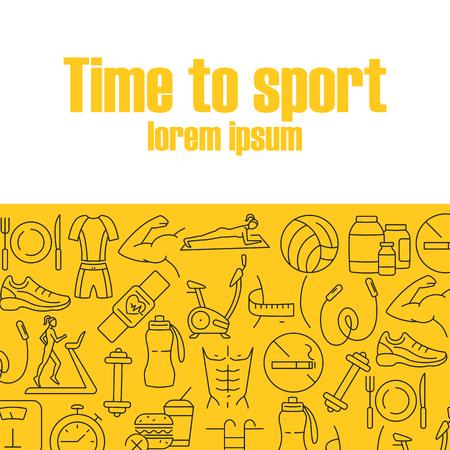 Time to sport banner Illustration