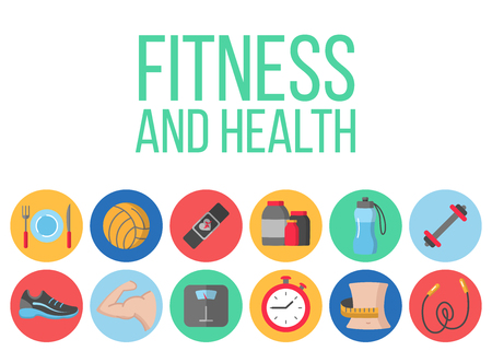 Time for fitness poster Illustration