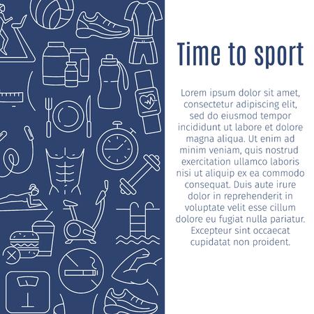 Time to sport vertical banner Illustration