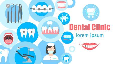 Dental clinic banner Vektorové ilustrace