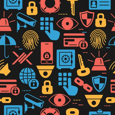 Security pattern of icons set