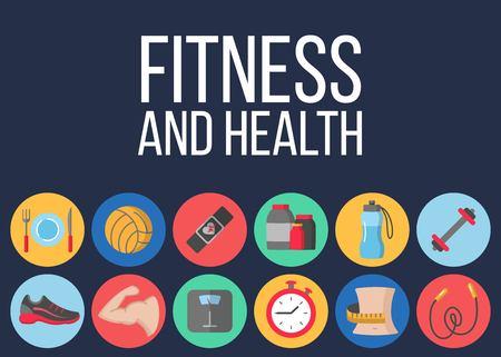 Time for fitness poster Illustration