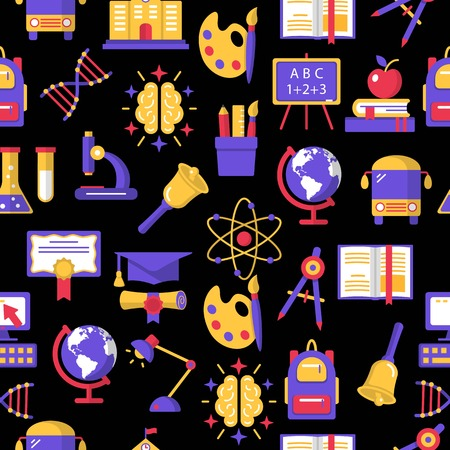 Education colorful seamless pattern