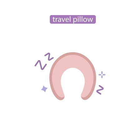 Pillow for travel flat vector icon