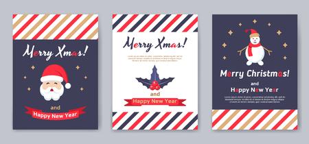 A set of posters or postcards Christmas market. Фото со стока