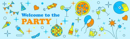 Banner or Template design for Musical Party celebration. Illustration