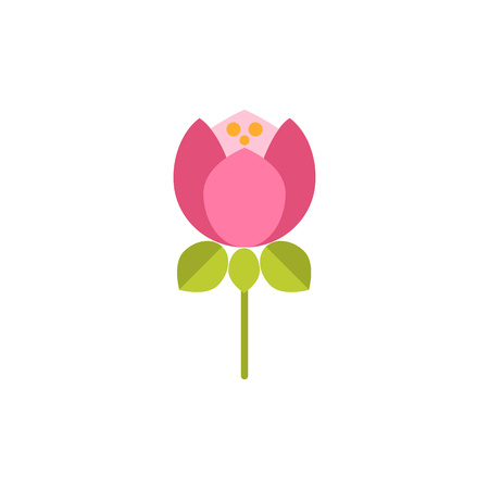 Peony icon.Universal Flower icon to use in web and mobile UI, ecology basic UI element. Vector Flat flower icon isolated on white background.