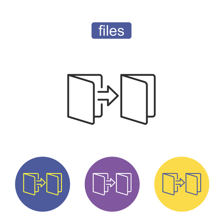 Folder outline icon. Admin sign. Office symbol. Thin line icon on white background. Storage of files, information Vector illustration. Editable stroke.