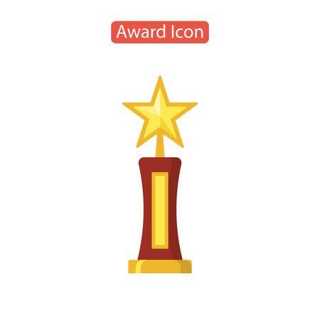 Star award icon isolated on white Illusztráció